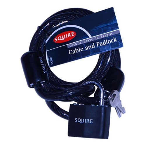 SQUIRE PADLOCK & 8MM X 900MM CABLE