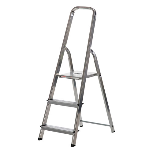 WERNER 3 TREAD ALUMINUM STEP LADDER (74003)