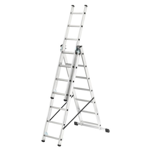 HAILO 3 SECTION 7 RUNG COMBI LADDER (1.7M - 5.4M) (1021-701)