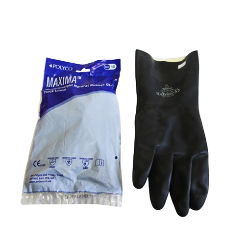 POLYCO MAXIMA NATURAL RUBBER GLOVES Sizes 9&10