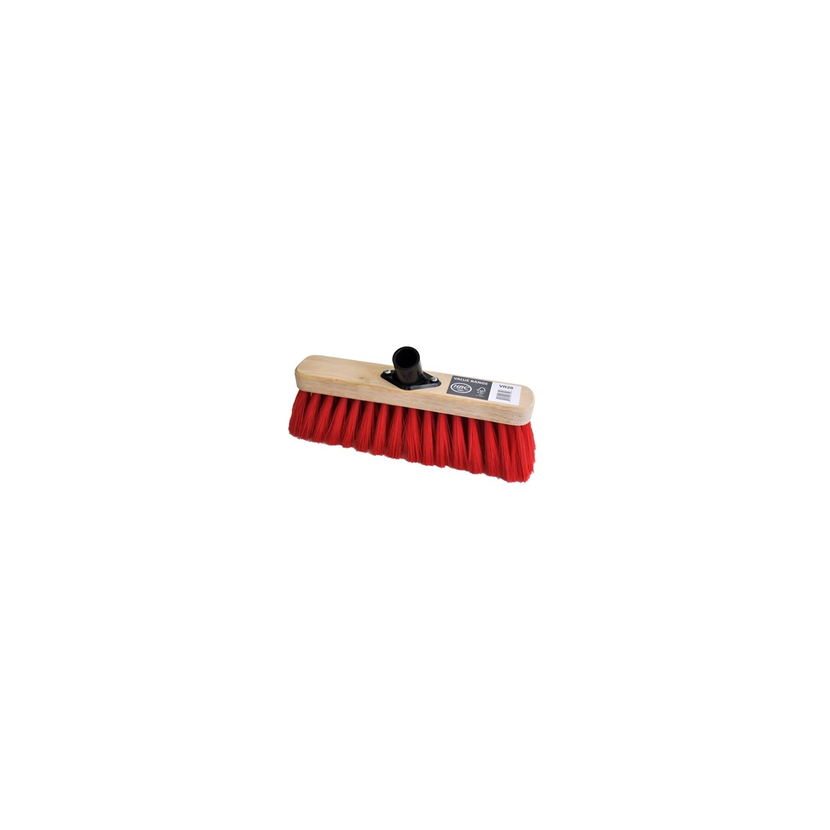 290MM SWEEPING BROOM RED PVC FILL C/W PLASTIC SOCKET - SOFT