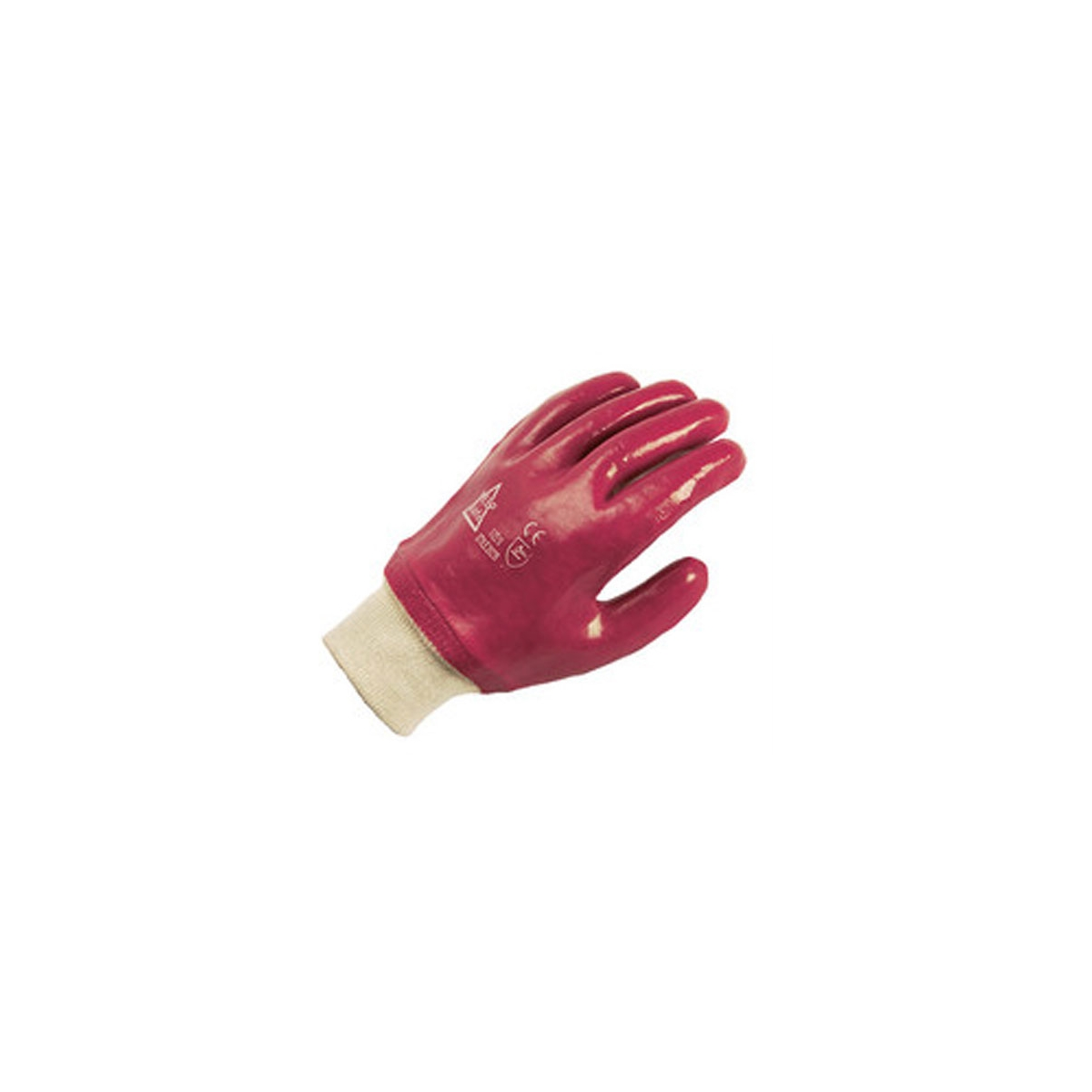 RED PVC KNITWRIST GLOVES (304930100)