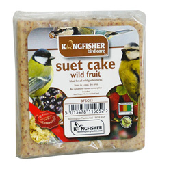 KINGFISHER SUET CAKE WITH WILD FRUIT 300G (BFSC03)