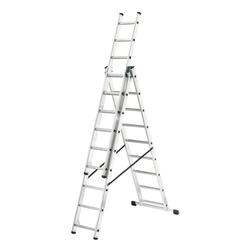 HAILO 3 SECTION 9 RUNG COMBI LADDER (2.17M - 6.1M) (1027-701)