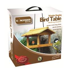 KINGFISHER WOODEN HANGING BIRD TABLE (HBT)
