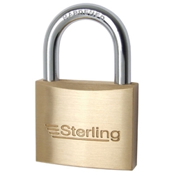 STERLING 60MM HEAVY BRASS PADLOCK KA (BPL162KA63)