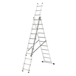 HAILO 3 SECTION 11 RUNG COMBI LADDER (2.65M - 6.8M) (1033-701)