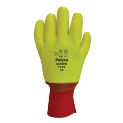 YELLOW LINED HEAVY DUTY GLOVES (7105)
