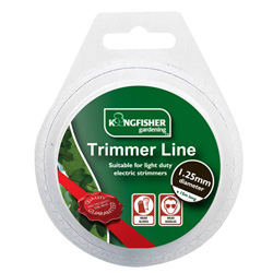 KINGFISHER 15M X 1.25MM STRIMMER LINE